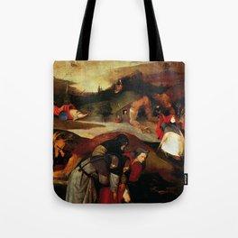 "Hieronymus Bosch ""Temptation of Saint Anthony"" (Antiga) 2 left wing Tote Bag"