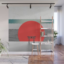 The Red Sun Wall Mural