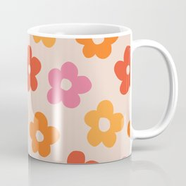 Retro 60s 70s Flowers Pattern #pattern #vintage Coffee Mug