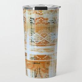 needlepoint sampler in sunny rays Travel Mug