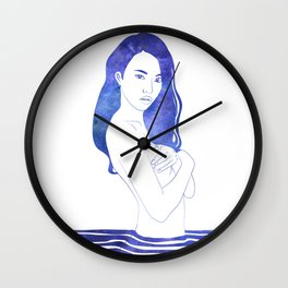 Water Nymph XI Wall Clock