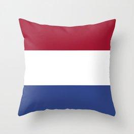 Netherlands flag emblem Throw Pillow