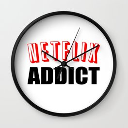 Netflix Addict Wall Clock