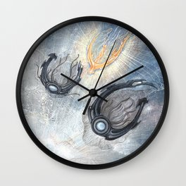 Starships Derelict Space Wall Clock