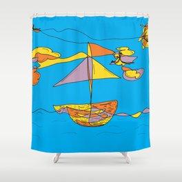 Days at Sea Shower Curtain