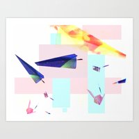 planes Art Prints featuring Planes by StazKnak