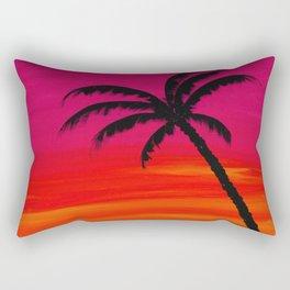 Sunset Palm 2 Rectangular Pillow