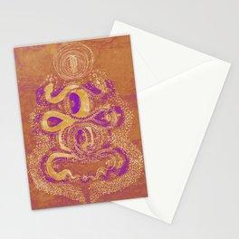 Snake Destiny (Golden Colors) Stationery Cards