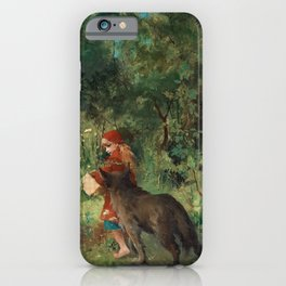 Little Red Riding Hood - Carl Larsson 1881 iPhone Case