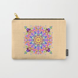 Spring Flower Mandala Carry-All Pouch