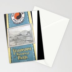 Yellowstone Northern Pacific Rail Time Table Stationery Cards