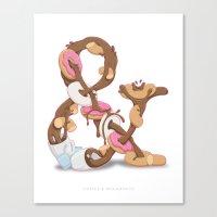 Coffee & Doughnuts Canvas Print