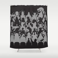 theater Shower Curtains featuring Mystery Theater 3K by Captain_RibMan