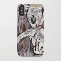 cuddle iPhone & iPod Cases featuring koala cuddle by Katy Lloyd