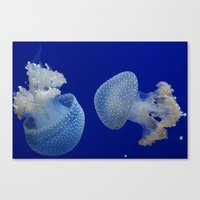 jelly fish Canvas Prints featuring Jelly Fish by Eternal