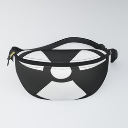 Black and White Radioactive Symbol Fanny Pack