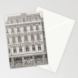 Vintage  of Architecture in Piccadilly published in 1870 by Arthur Cates (1829-1901) Stationery Cards