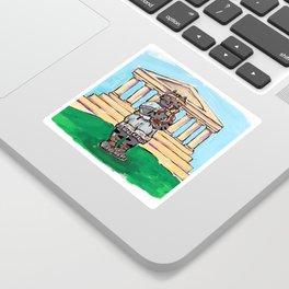 Greek Cat Sticker