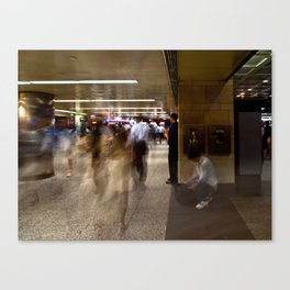 Penn Station in Motion Canvas Print