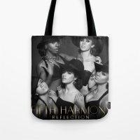 fifth harmony Tote Bags featuring Fifth Harmony - Reflection by xamjx3
