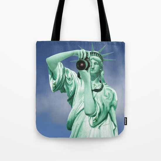 Say cheese for Liberty! Tote Bag