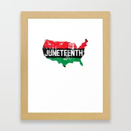 Juneteenth Shirt History American African Black Freedom Day T-Shirt Framed Art Print