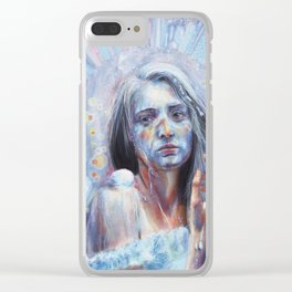 Pancake Girl Clear iPhone Case