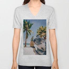 Koala in the beach Unisex V-Neck