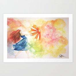 Dancing in the Wind Art Print