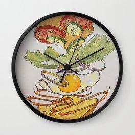 Egg sammich! Wall Clock