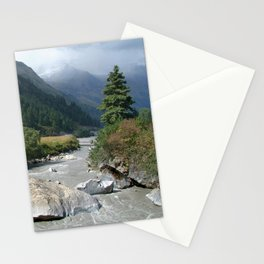 View Along River Marpha to Ghasa Stationery Cards