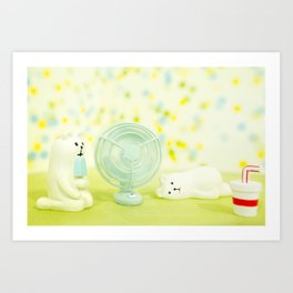 Chilling Too Art Print