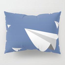 Paper Plane Fleet Pillow Sham
