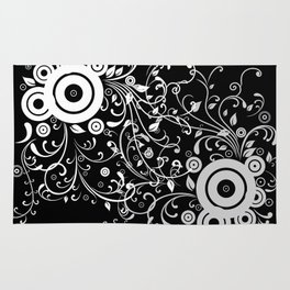 Abstract white and grey background Rug