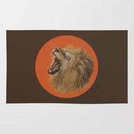 Round Lion Rug