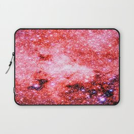 GALaXY Sparkle Stars Pink Coral Lavender Laptop Sleeve