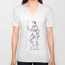 Vintage Sportswoman Unisex V-Neck