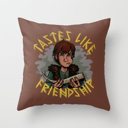 Tastes Like Friendship! Throw Pillow