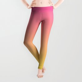 Pink and Yellow Ombre Print Leggings