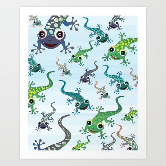 Geckos Art Print