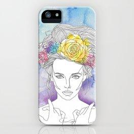 Flower Queen iPhone Case