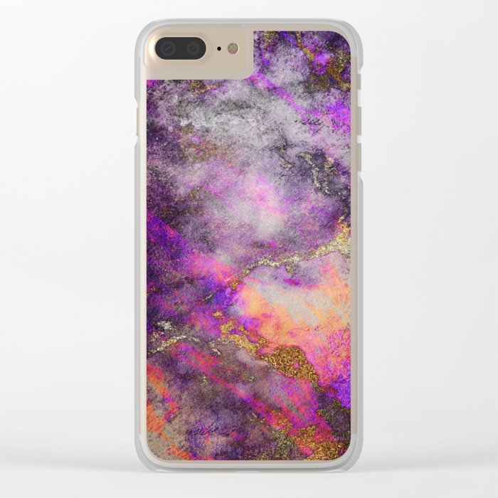 Purple wall Clear iPhone Case