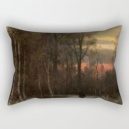 Alone in a Winter Wood by Sophus Jacobsen Rectangular Pillow