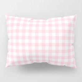 Light Soft Pastel Pink Cowgirl Buffalo Check Plaid Pillow Sham