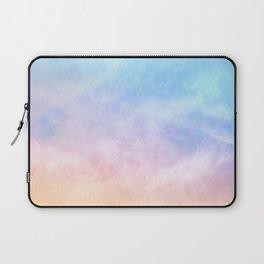 Pastel Rainbow Watercolor Clouds Laptop Sleeve