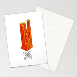 Magic square of Jupiter in 3D / Talisman Stationery Cards