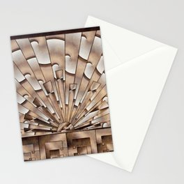 Art Deco Weathered Copper I Stationery Cards
