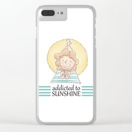 Addicted to sunshine Clear iPhone Case