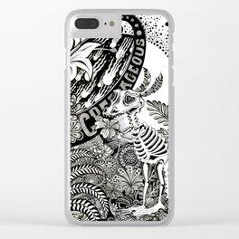 Cretaceous Extinction Clear iPhone Case