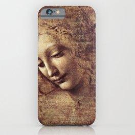 Leonardo Da Vinci - Head Of A Young Woman iPhone Case